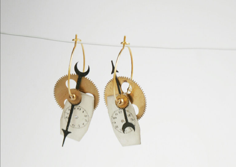 boucles d'oreilles Grigri par mka bricks creatrice bordelaise